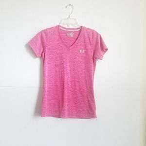 UNDER AEMOUR T SHIRT PINK/GRAY SIZE M